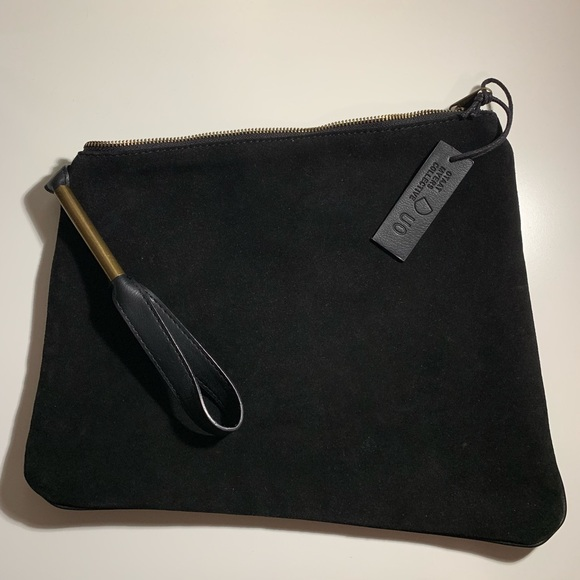 Urban Outfitters Handbags - Suede zip clutch / pouch